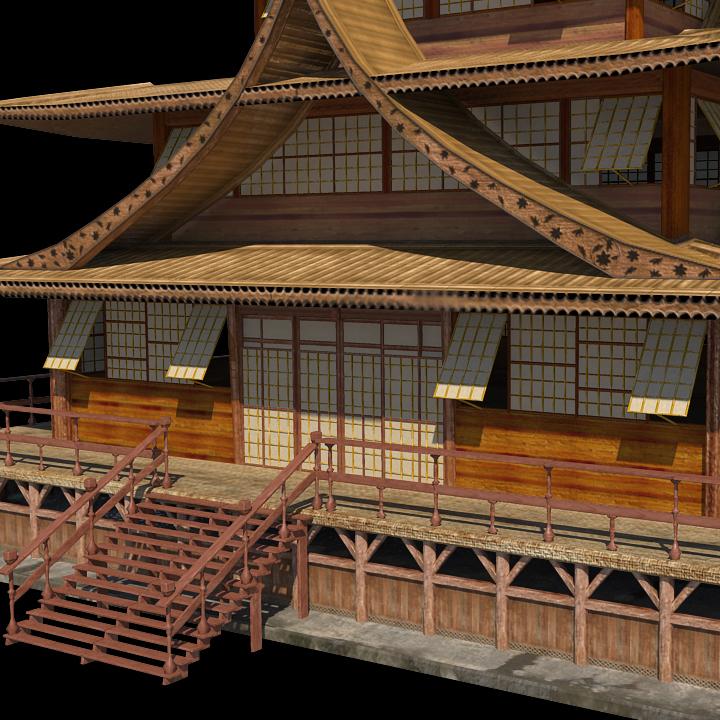 Japanese Castle Game Model